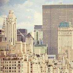 Metropolis - New York Photography, Modern NYC Art Print, Manhattan... ($30) ❤ liked on Polyvore