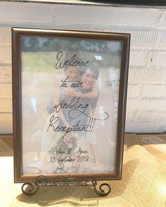 【結婚式DIY】トレーシングペーパーと写真を重ねて作るウェルカムボードがおしゃれ! | marry[マリー]
