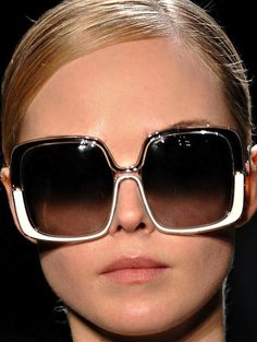Diane VonFurstenberg Sunwear, oversized and square for Fall 2012