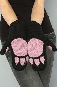 The kitty paw mittens