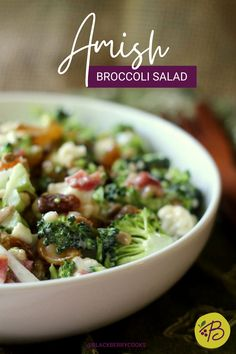 Amish Broccoli Salad | Cauliflower Broccoli Salad | Easy Broccoli Salad | Broccoli Recipe #broccoli Amish Broccoli Salad, Broccoli Cauliflower Salad, Broccoli Recipes, Healthy Meals For Two, Healthy Crockpot Recipes, Easy Recipes, Cooking Recipes, Fresh Salad Recipes, Healthy Salad Recipes