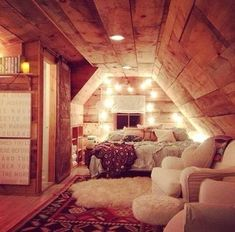 Cute ...  Warm and cozy attic room.  Makes up for the fact this room is probably cold much of the year.  I guess, except when it's roasting.  :)