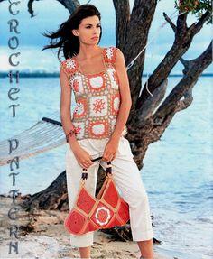 Mujer Crochet patrón superior sólo con por ErenaCrochetStudio