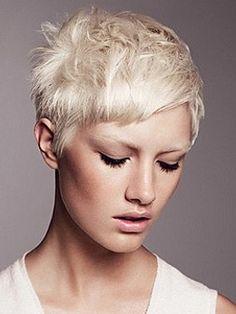platinum blond pixie