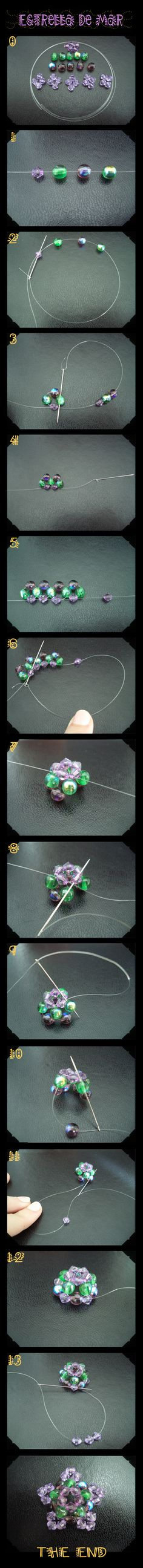 I hope you'll like this starfish tutorial and try to do your own pendant. Beading is just fun!! isn't it?