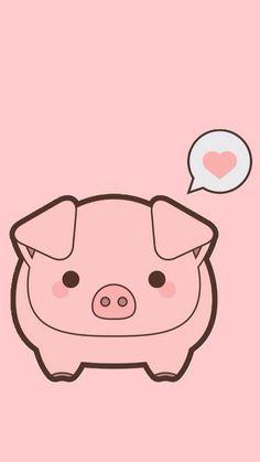Kawaii Pig Cute Phone Wallpaper Pastel Cellphone