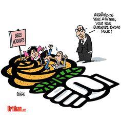 Les socialistes et la rose des sables - Dessin du jour - Urtikan.net