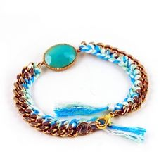 Create this simple bracelet inspired by the $185 lizzie fortunato version for less than $20 and 15 minutes of your time.