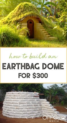 Earthbag construction can be a wonderful way to build a small (or large) home. Earthbag houses are typically simple to design and build, especially when building a dome-shaped home. Permaculture, Home Design, Earth Bag Homes, Earthship Home, Living Roofs, Tadelakt, Dome House, Natural Building, Building A Shed