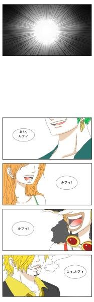 "One Piece: Luffy's Birthday Short Story part 5 ALSO: Zoro: ""Hey, Luffy!"" Nami: ""Luffy!"" Usopp: ""Luffy!"" Sanji: ""Oi, Luffy!"""