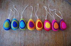 Felt easter eggs | Handmade felt easter eggs. Decorated on b… | Flickr