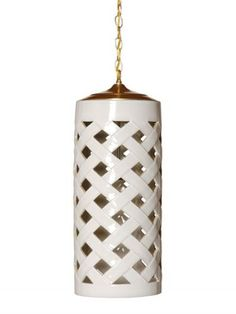 Couple of these for home office? Crisscross Pendant- White