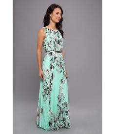 Pretty Maxi With Pleated Bodice And Skirt Print