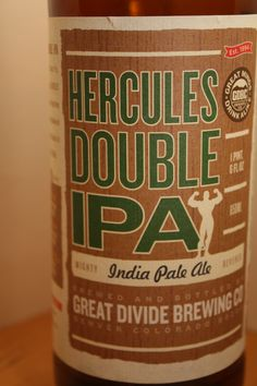 Great Divide - Hercules Double IPA     Another great Beer from Great Divide.