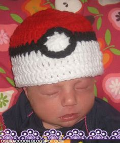 nothing's creative anymore: Free Crochet Pattern - Newborn Pokéball Hat