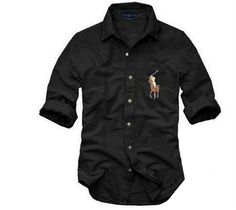 new 2015 spring auturn New Mens brand small horse famous Solid Formal Casual Shirts Cotton Long Sleeve Slim solid Sports Shirt Ralph Lauren Hombre, Polo Ralph Lauren, Long Sleeve Shirt Dress, Long Sleeve Shirts, Dress Shirt, Stylish Men, Men Casual, Moda Converse, Le Polo