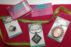 Crystal's Crazy Combos: Beads Ink - Nail Polish Jewelry Designs