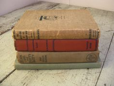 childrens book stack muted colors instant by rivertownvintage, $25.00