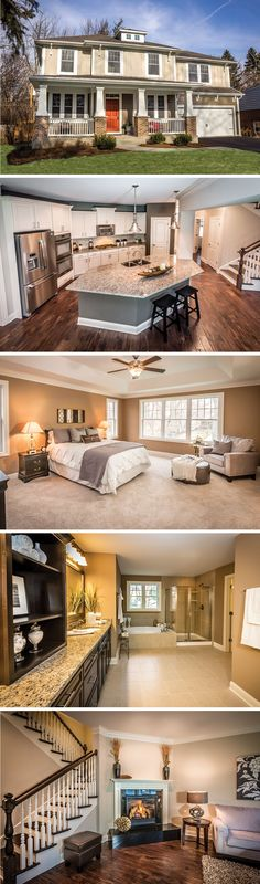 The Billingsgate by David Weekley Homes in Chicago IL is a 4 or 5 bedroom, 3 to 4 bathroom home that features hardwood floors and an open floorplan, perfect for keeping the family together.
