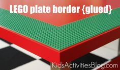 Re-make any table into a lego table for the kids - brilliant!