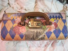 The little old Suitcase/front collage/decoupage ~ Nikki Soppelsa