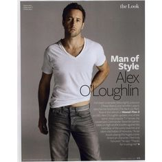 InStyle Editorial Man of Style Alex O'Loughlin, April 2011 Shot #1 -... ❤ liked on Polyvore featuring alex o'loughlin and editorials
