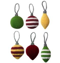 Classic Christmas Ornament Set  PDF Crochet von CrochetSpotPatterns