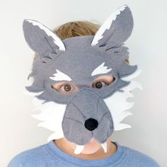 Wolf Mask - Book Week Costume - Big Bad Wolf - Wolf costume - Wolf dress up - Kids Dress up - Halloween Kids - Kids Mask - Boy Costume Boys Wolf Costume, Boy Costumes, Grease Costumes, Woman Costumes, Mermaid Costumes, Pirate Costumes, Couple Costumes, Group Costumes, Adult Costumes