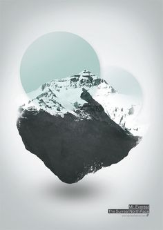 Mt. Everest - The Surreal North Face - Graphic Art Print by dp{i} Dirk Petzold Illustrations