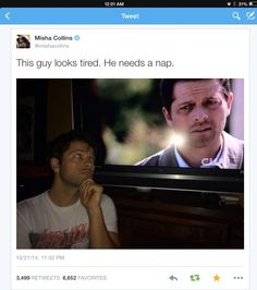 Misha felt sorry for himself while Tweeting lol! 10x3 Soul Survivor