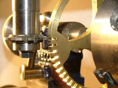 Wheel Cutting on Cowells Vertical Milling Machine Vertical Milling Machine, Cnc Lathe Machine, Machine Tools, Diy Jewelry Tools, Small Lathe, Clock Repair, Maker Shop, Metal Working Tools, Antique Watches