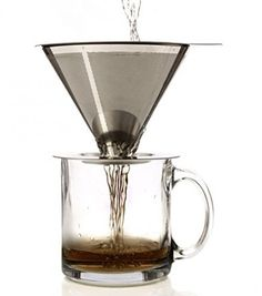 Coffee Maker Brewer Dripper Paperless Pour Over Stainless Steel Filter Cone New…