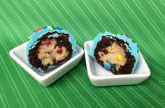 Cookie Dough Brownie Bombs  http://cookiecarrie.com