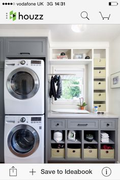 Idiot's Handbook To Small Laundry Room Makeover On A Budget Ideas Interior Decorating Explained 63 Small Laundry Rooms, Laundry Room Organization, Laundry Room Design, Laundry In Bathroom, Basement Laundry, Laundry Area, Studio Organization, Laundry Basket, Storage Organization