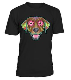 """# Labrador Retriever in Chocolate  Day of the Dead Lab Sugar Skul .  Special Offer, not available anywhere else! Available in a variety of styles and colorsBuy yours now before it is too late!Click """"Buy it now"""" to pick your size and color Guaranteed safe and secure checkout via:"""