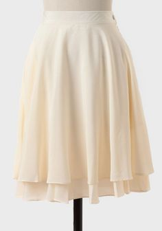 Dove Islet Tiered Skirt In Ivory at #Ruche @Ruche