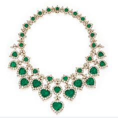 Gold, emerald, and diamond necklace by Van Cleef et Arpels