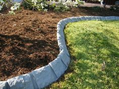 Decorative Stone Garden Edging At Yard Product