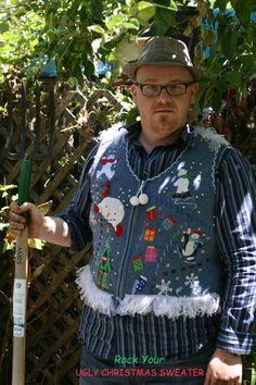 American Gothic Ugly Sweater www.rockyouruglychristmassweater.com #ryucs