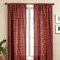 Add a touch of elegance to your home decor with a new curtain panel Window treatment features a multicolor chain-stitch scroll Curtain panel measures 55 inches wide x 96 inches long 108 Inch Curtains, Long Curtains, Rod Pocket Curtains, Panel Curtains, Blue Curtains, Style At Home, Window Scarf, Window Panels, Home Decor Outlet