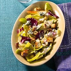 Endive, Pear, and Blue Cheese Salad:  This unique, savory dish offers a healthy dose of vitamins and good fats. It's creamy, crunchy, sweet, and perfect for a heart-healthy diet! | Health.com