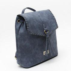 Nina mochila azul de Misako lateral Ethnic Patterns, Leather Backpack, Fashion Backpack, Backpacks, Bags, Accessories, Blue Nails, Backpack, Handbags