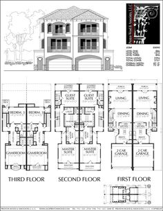 Townhouse Plan E2237 A1 1 English Townhouse in 2019