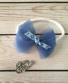 Terrifically Tulle Headband // one size fits all // handmade // Hanukkah gift by MyLittleNuggets on Etsy