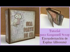 TUTORIAL Encuadernación de Espina diferente (Owl´s World) - YouTube