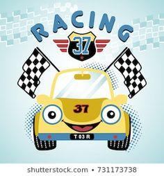 race car vector cartoon illustration Source by eborrasbcn Cartoon Drawings, Animal Drawings, Kids Graphic Design, Kids Dress Collection, Car Vector, Boy Character, Kids Poster, Boy Art, Cartoon Kids