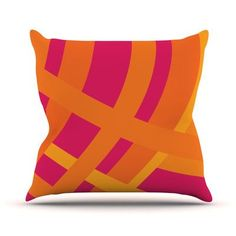 KESS InHouse Tangled by Fotios Pavlopoulos Outdoor Throw Pillow