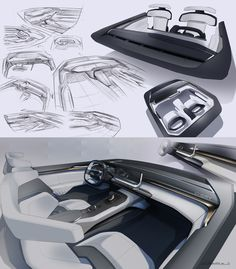 Chery brand new Tiggo coupe concept interior design sketches