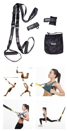 Fitness Suspension Trainer | Nylon+Metal Material Suspension Trainer Gym Bands for Specific Muscles Training.