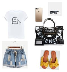 """meet me at the coffee shop"" by shieneee on Polyvore featuring Balenciaga, American Eagle Outfitters, Casetify and Coach"